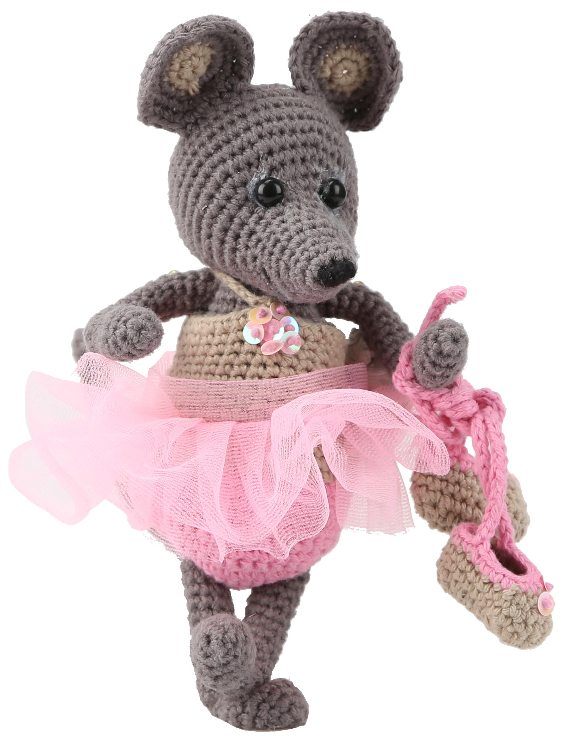 Ballerina-Mouse amigurumi pattern - Amigurumipatterns.net | 2376x1809