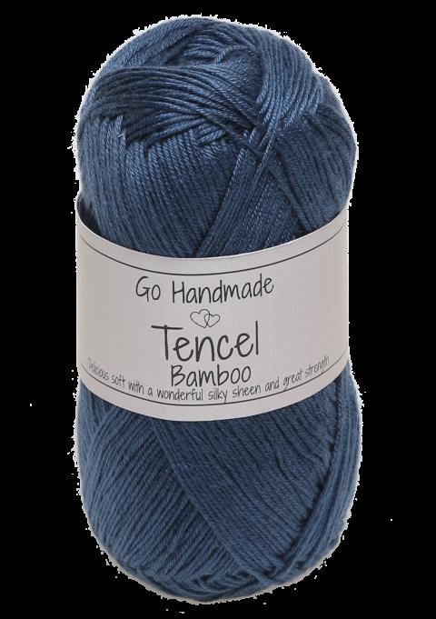 Tencel/Bamboo - Petrol blå