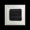 Dobbelt PU- læder label - sort - 5 x 1,5 cm - stk/6