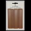 PU- læder label - peanutbrun - 10 x 2 cm - stk/6