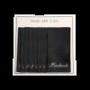 Vævede labels, enkeltsidet- sorte - 60 mm x 32 mm - stk/10 -