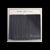 Vævede labels, enkeltsidet- mørkegrå - 60 mm x 32 mm - stk/10 -