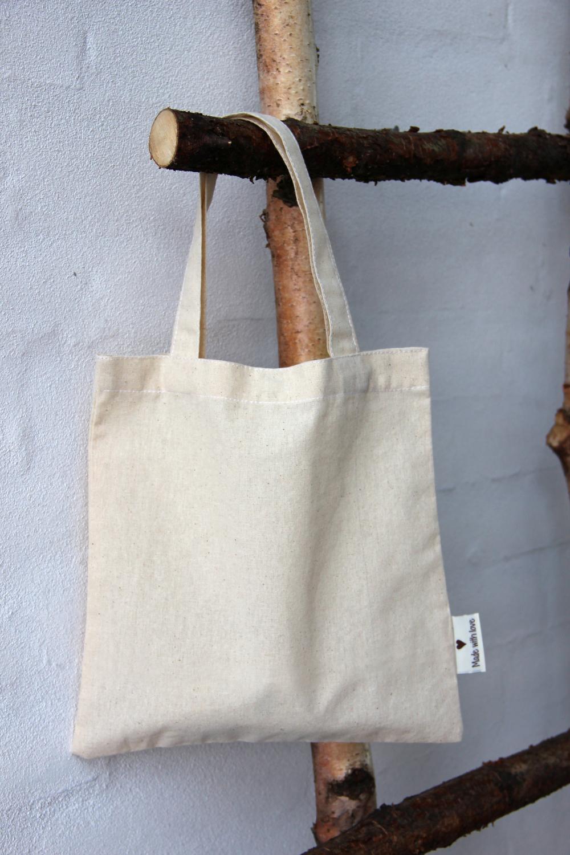 Canvas Bag W Handles Amp Snap Button 100 Cotton 23x23