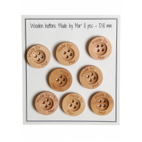 /'Floral Dinosaur Head/' Wooden Buttons BT006316