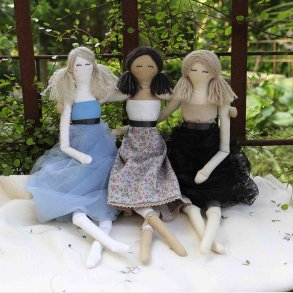 Fabric dolls collection