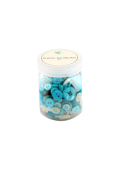 MIX KNAPPER, PLASTIK - TURKIS 100 G