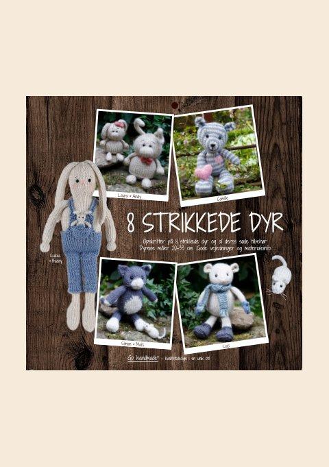 8 STRIKKEDE DYR - DK