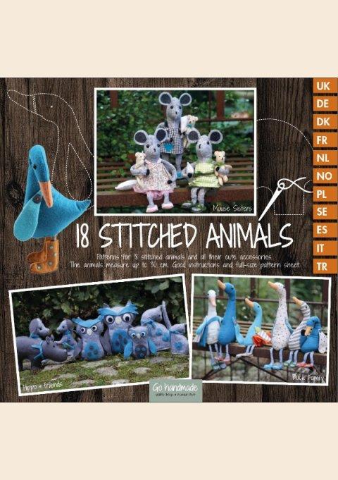 18 STITCHED ANIMALS - flersproget bog (SYBOG)