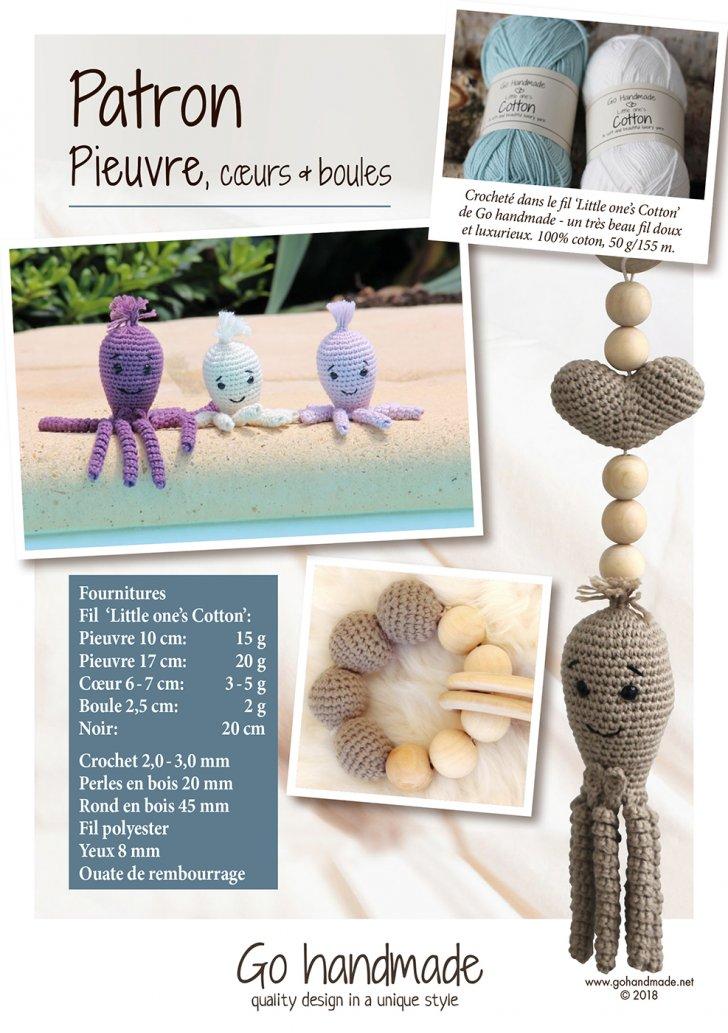 Octopus, hearts & beads - FR