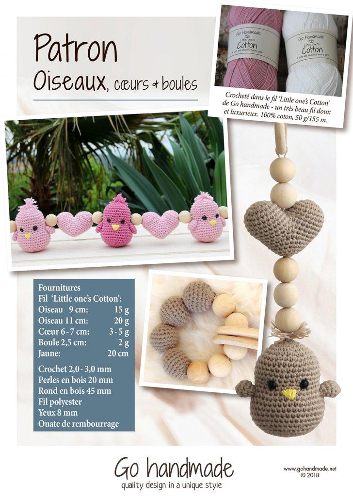 Birds, hearts & beads - FR