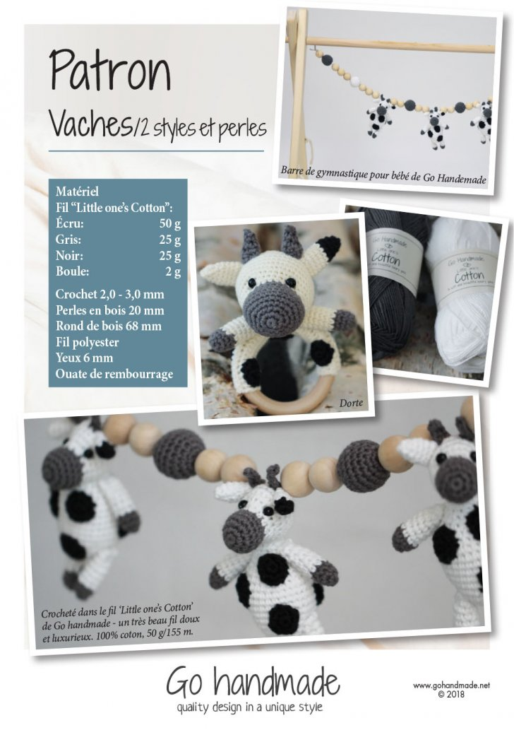 Cows/ 2 styles & beads - FR