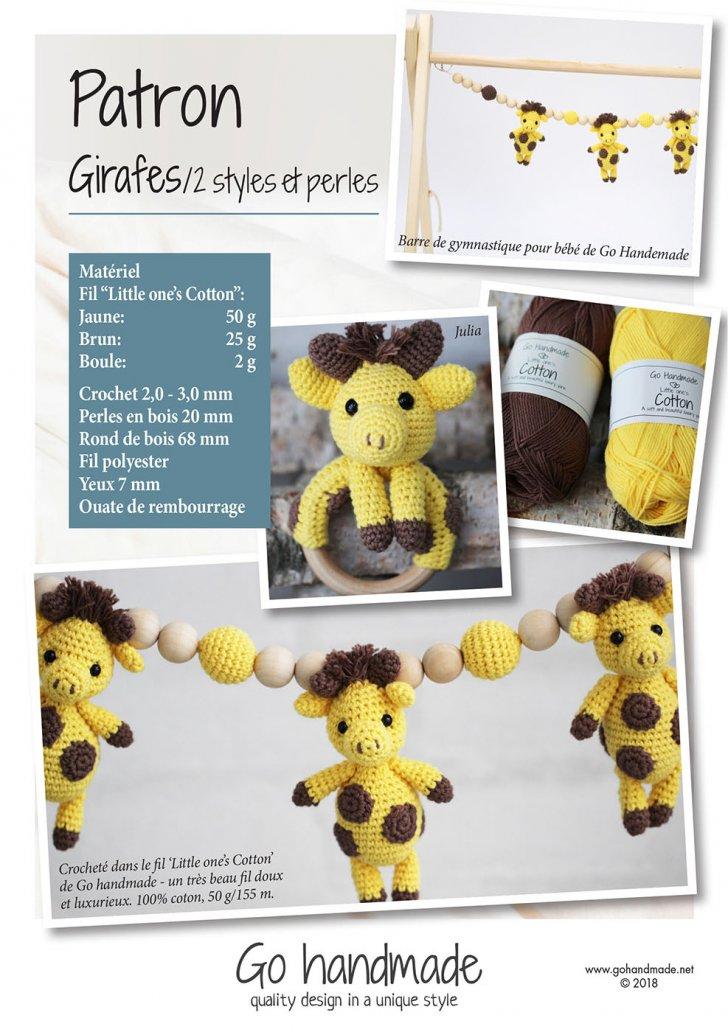 Giraffes/ 2 styles & beads - FR
