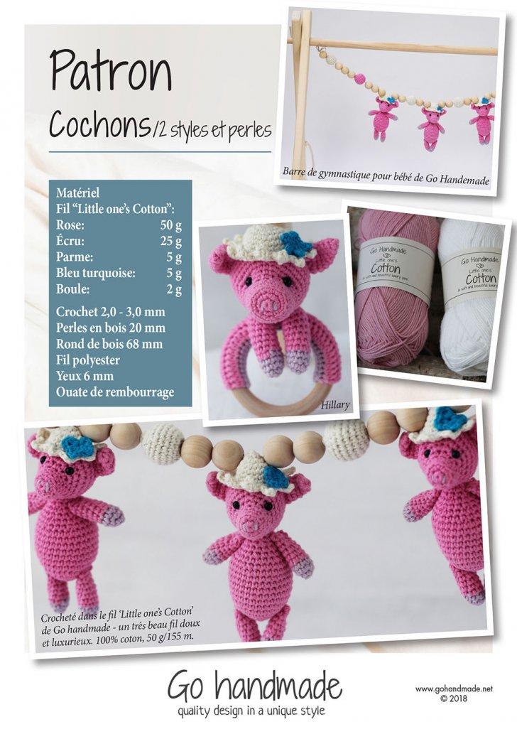 Pigs/ 2 styles & beads - FR