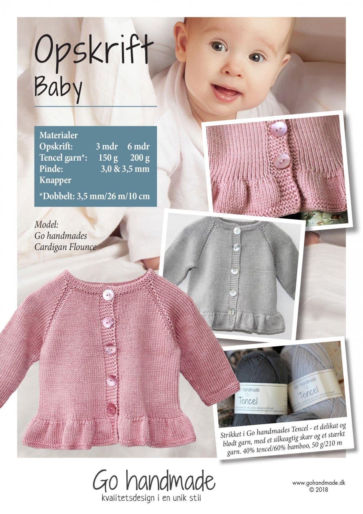 Cardigan flounce DK Baby clothes Go Handmade