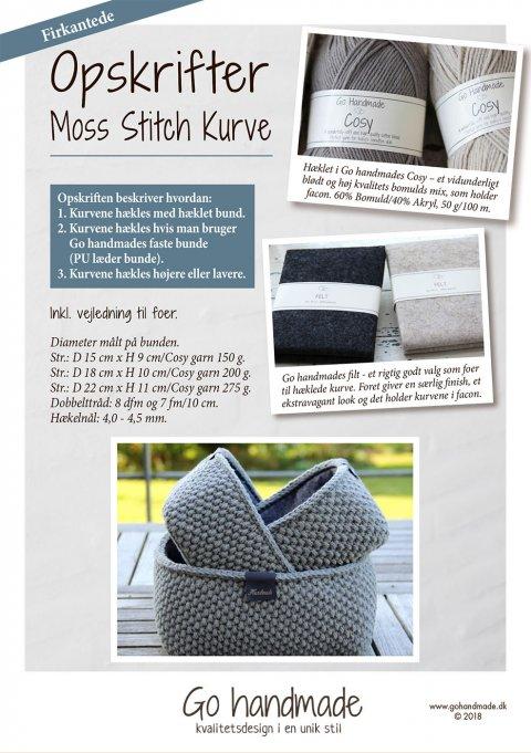 Moss Stitch kurve - firkantede - DK