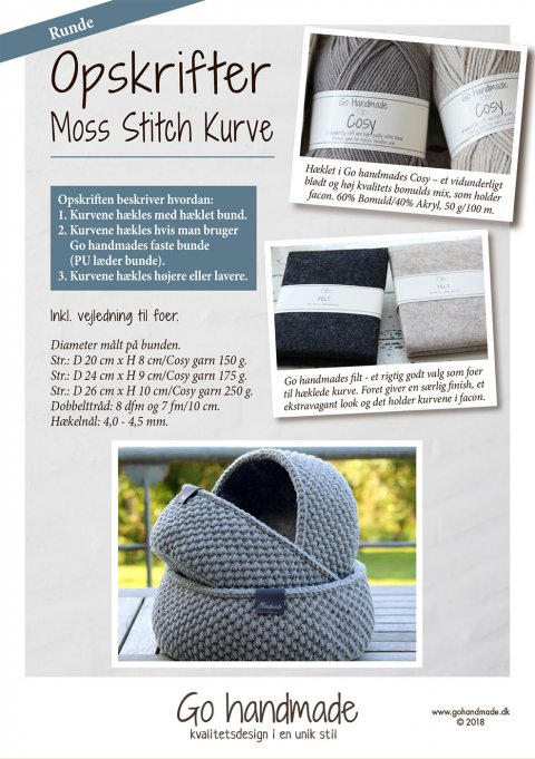 Moss Stitch kurve - runde - DK