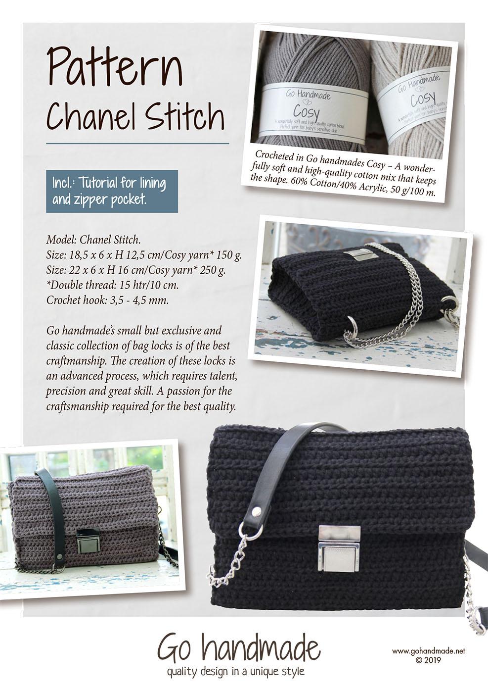 1579b4dff9b7 Chanel Stitch - UK - Crocheted handbags, trays & baskets - Go Handmade