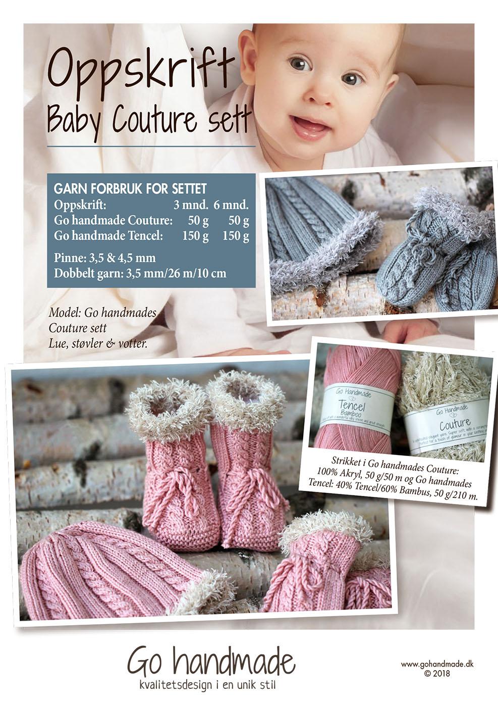 0a163972635 Baby Couture sæt - NO - Strikket babytøj - Go Handmade