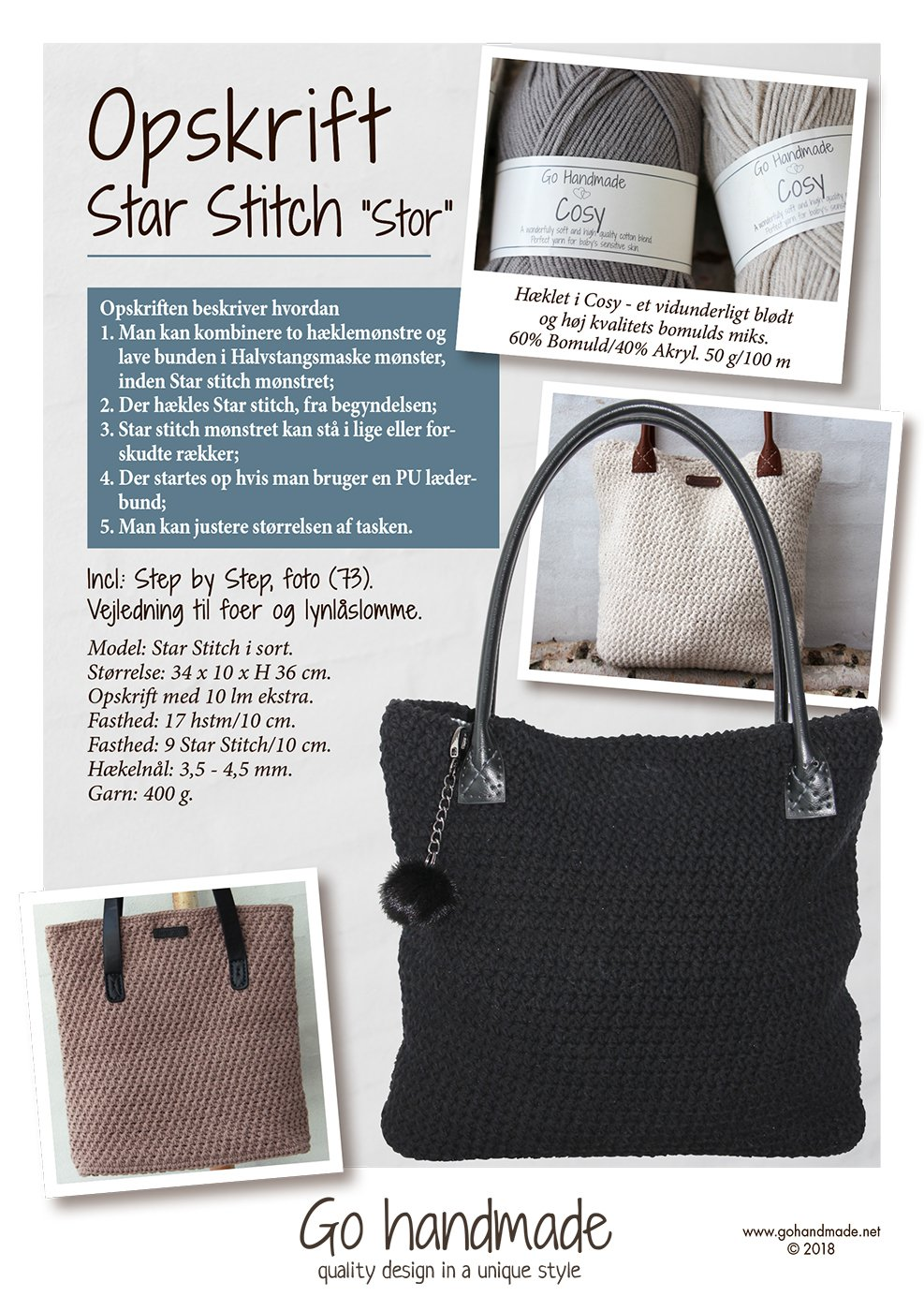 Star Stitch 'Stor' DK Tasker Go Handmade