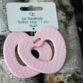 Teether rings - heart